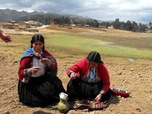 Sacred Valley Women Offering Chicha to Pacha Mama - An Irish Womans Journey in Peru