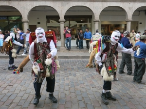 Dancing in the Streets of Cuzco Peru - Traditional Dancing Rituals and Celebrations