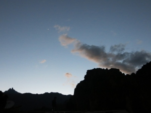 Venus above the Fortaleza in Ollantaytambo, Peru
