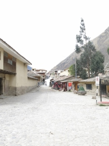 Early morning in Ollantaytambo Town, Sacred Valley Peru