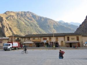 Plaza De Armas Ollantaytambo, Cuzco Region Peru.