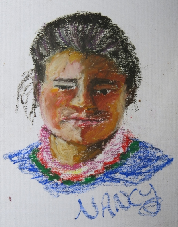 Nancy in Oil Pastel
