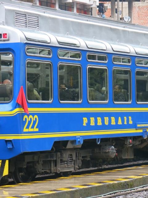 Peru Rail...train to Machu Picchu from Ollantaytambo Peru