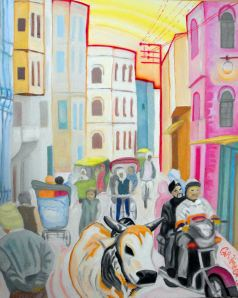 Varanasi Cow, Caroline Cunningham Art