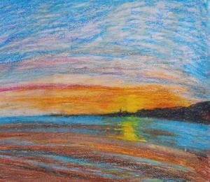 Sandymount Sunrise- Caroline Cunningham Art