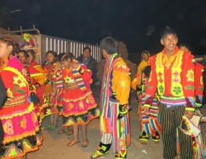 Dancing Groups arriving at the Church - Peru