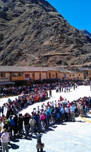 Ollantaytambo Peru on Independence Day