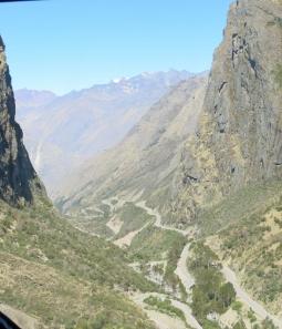 Winding Roads leading to the Abra Malaga Pass - Peru