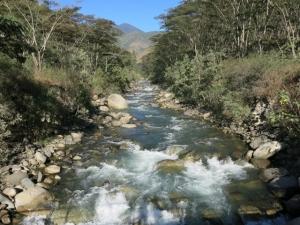 Rio Urubamba in Santa Teresa Peru