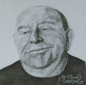 Ed O Connell Completed Portrait by Caroline Cunningham