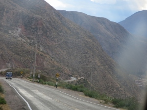 Driving to Cuzco through the Sacred Valley Peru