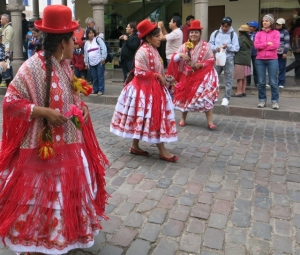 Dancers and Parades in Cuzco Peru