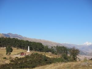Christ Statue Cuzco Peru