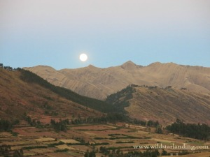 Moon over Cuzco Peru