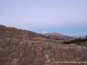 Moon ove Cuzco Peru