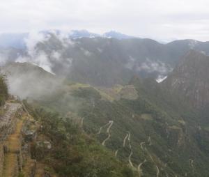 Windy Road To Machu Picchu