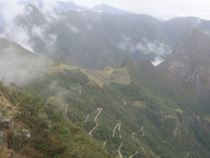 Winding Road to Inca Citadel as seen from Sun Gate