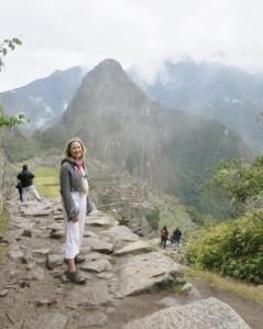Approaching Machu Picchu Citadel from Inti Punku