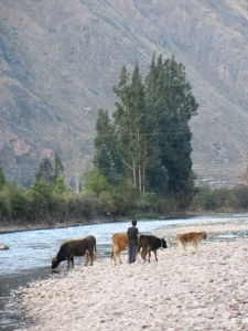 Urubamba River Ollantaytambo Peru
