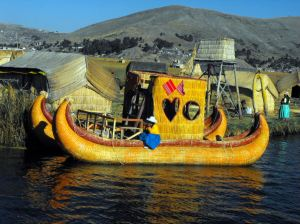 Floating Reed Islands and Uros People on Lake Titicaca